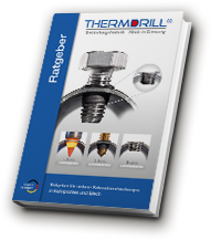 Illustration of the Thermdrill guidebook. Everything good to know about screw connections with thin wall thicknesses and usage of the Thermdrill process